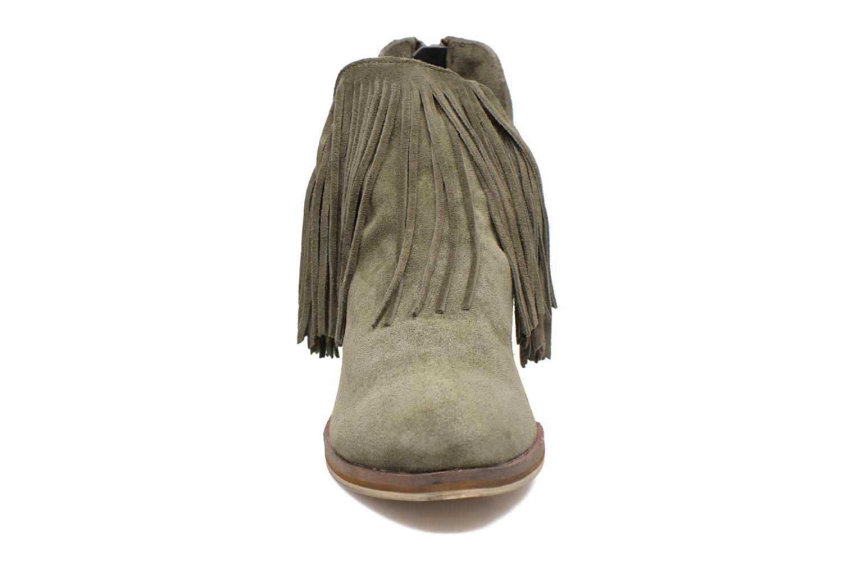 Bottines et boots Vero Moda Laure Leather Boot Vert vue portées chaussures