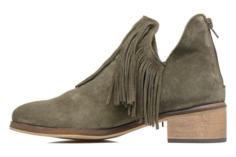 Bottines et boots Vero Moda Laure Leather Boot Vert vue face