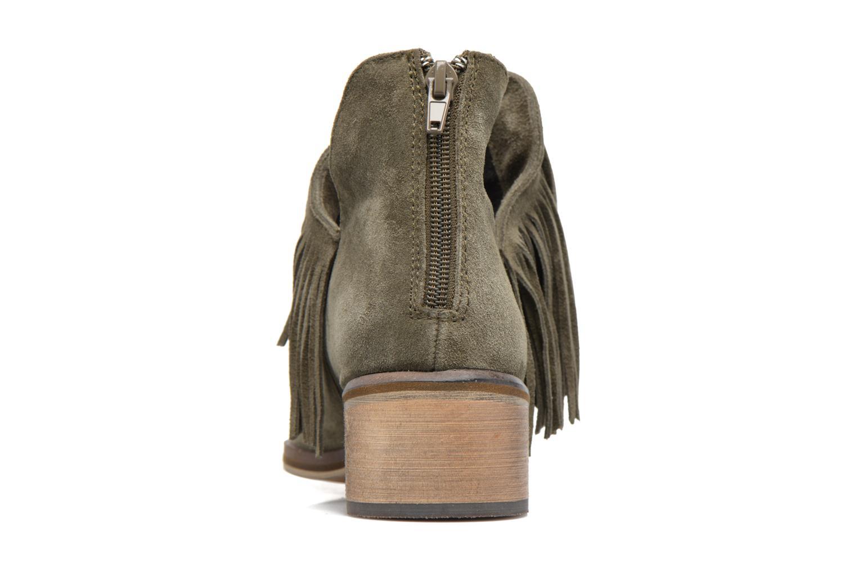 Bottines et boots Vero Moda Laure Leather Boot Vert vue droite