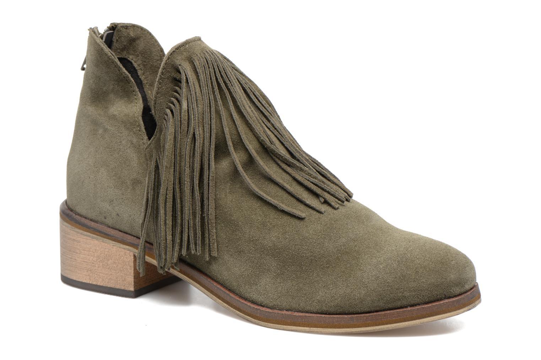Bottines et boots Vero Moda Laure Leather Boot Vert vue détail/paire