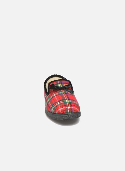 Chaussons Rondinaud Drancy Rouge vue portées chaussures