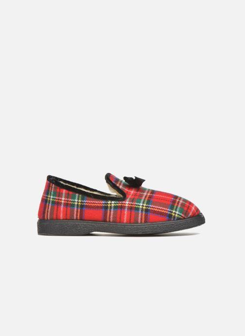 Pantofole Rondinaud Drancy Rosso immagine posteriore
