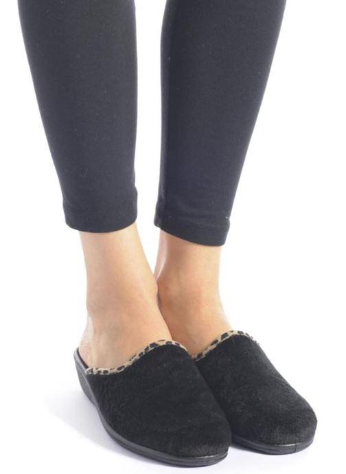 Pantofole Rondinaud Esnes Nero immagine dal basso