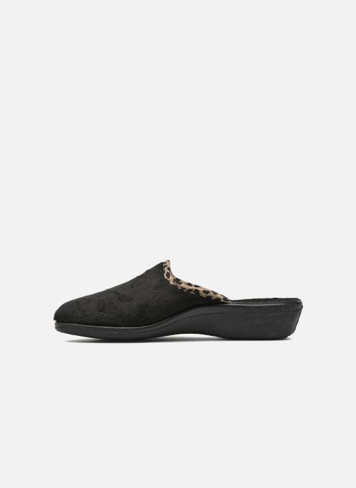 Pantofole Rondinaud Esnes Nero immagine frontale