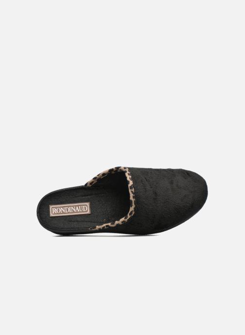 Pantofole Rondinaud Esnes Nero immagine sinistra