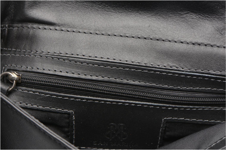 Sacs pochettes San Marina POMANA Sac pochette cuir Noir vue derrière