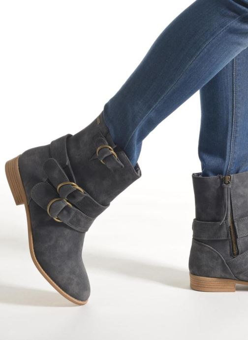 Bottines et boots Roxy Bixby Gris vue bas / vue portée sac