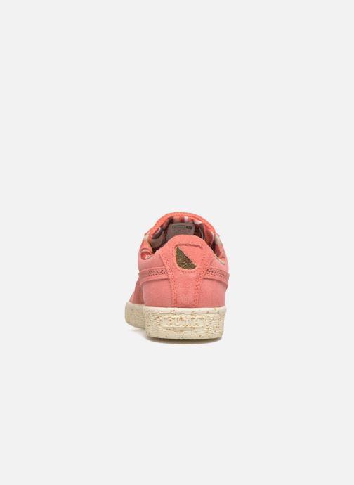 Sneaker Puma Select Clyde x Careaux rosa ansicht von rechts