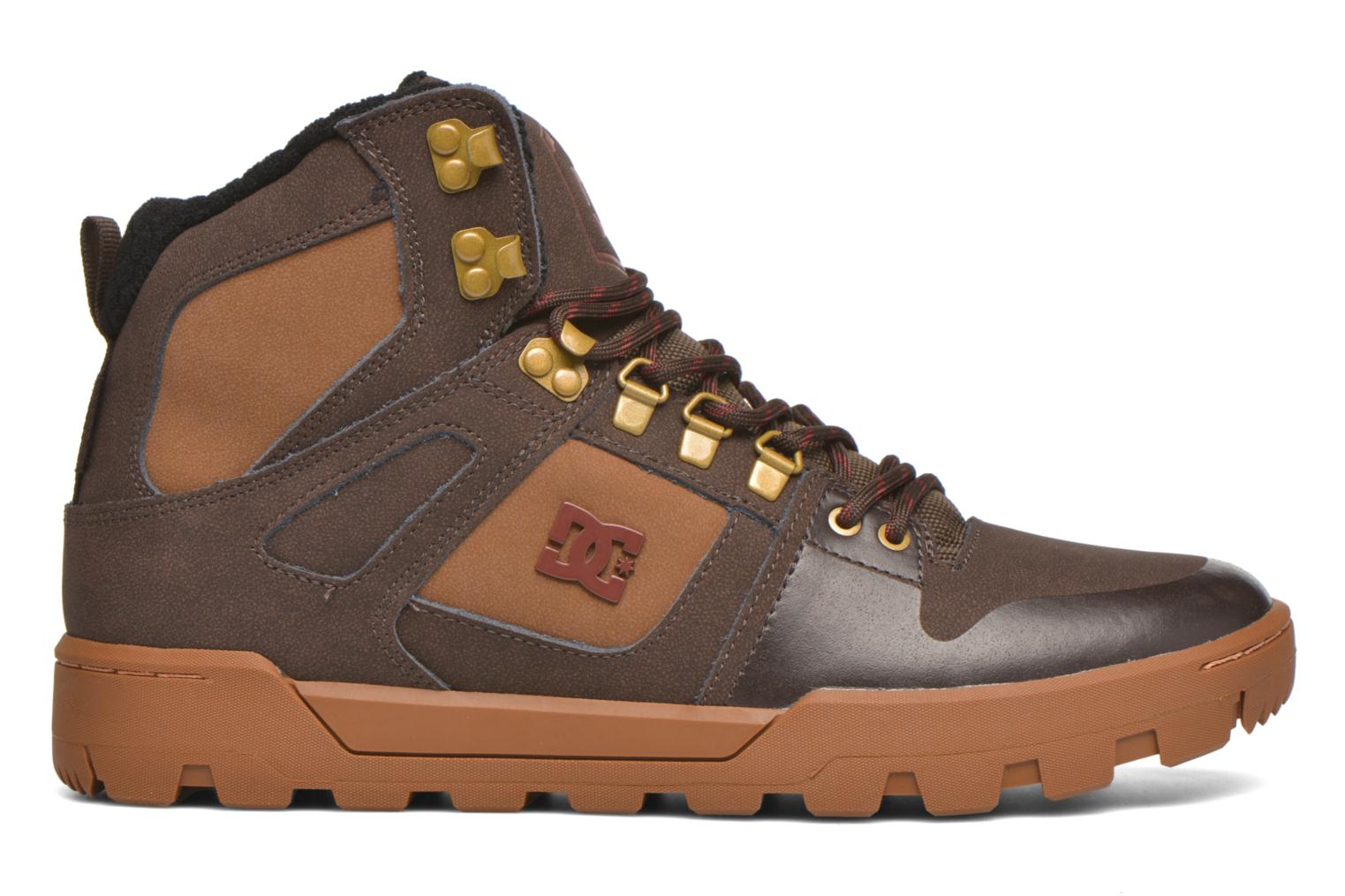 Baskets DC Shoes Spartan High WR Marron vue derrière