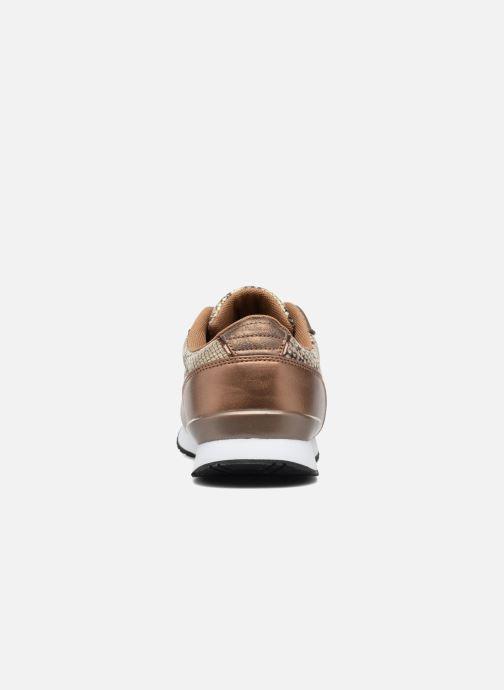 Baskets Kaporal Jemma Or et bronze vue droite