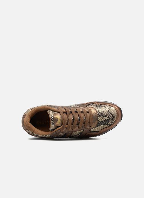 Baskets Kaporal Jemma Or et bronze vue gauche