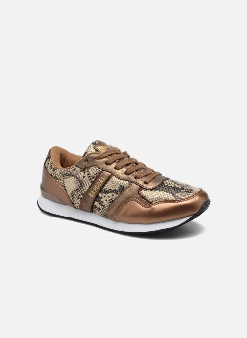 Trainers Kaporal Jemma Bronze and Gold detailed view/ Pair view