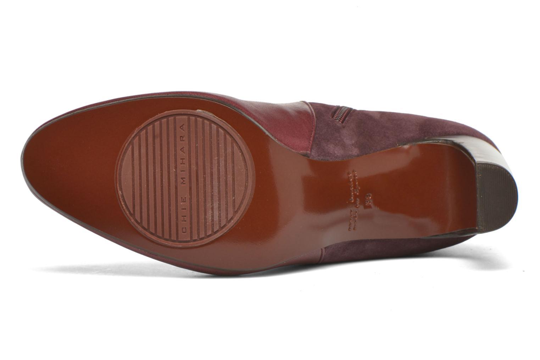 Bottines et boots Chie Mihara Flint-C Bordeaux vue haut