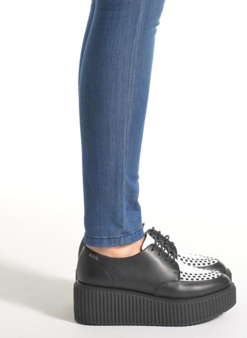Lace-up shoes KARL LAGERFELD Sneaker Low Top Choupette Black view from underneath / model view