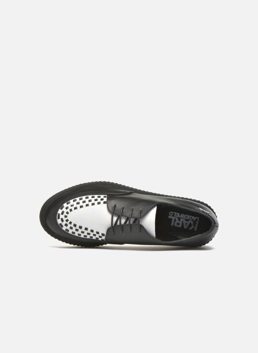 Chaussures à lacets KARL LAGERFELD Sneaker Low Top Choupette Noir vue gauche