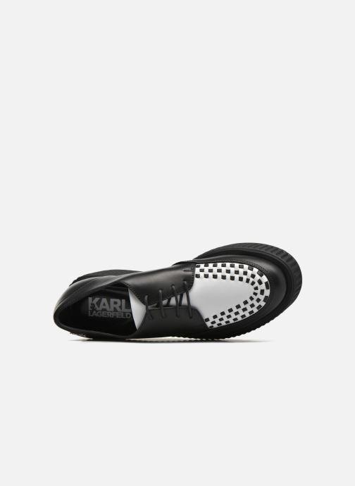 Chaussures à lacets Karl Lagerfeld Cocktail Sleep On Karl Noir vue gauche