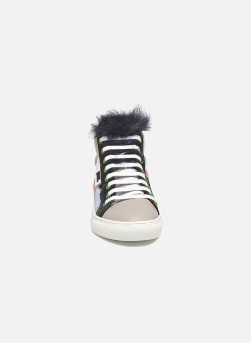 Baskets KARL LAGERFELD K Pop Glitter Creeper Multicolore vue portées chaussures