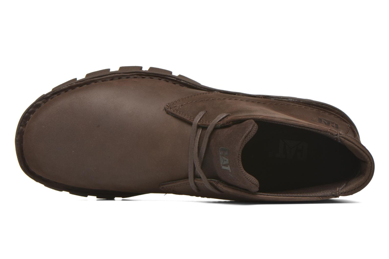 Chaussures à lacets Caterpillar Mitch Marron vue gauche