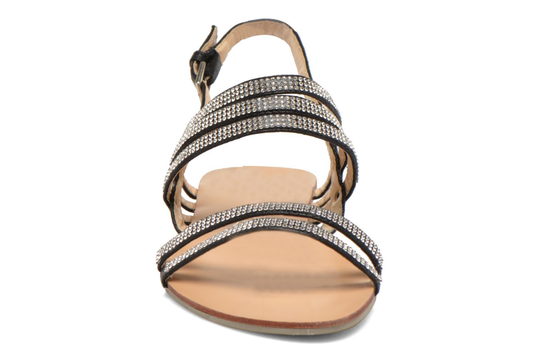 Sandales et nu-pieds Divine Factory Chamila Noir vue portées chaussures