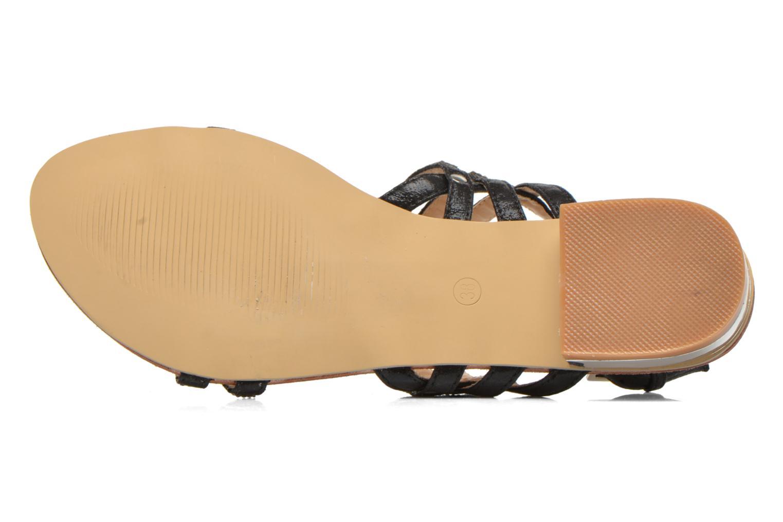 Sandales et nu-pieds Divine Factory Chamila Noir vue haut