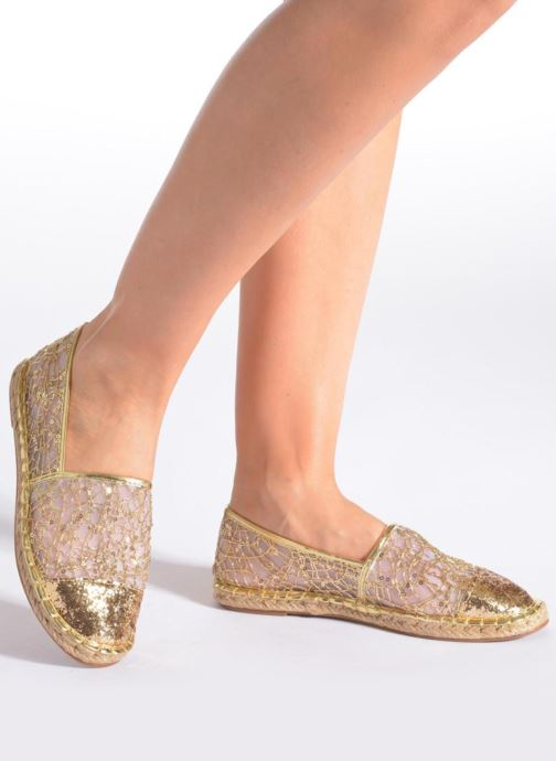 Espadrilles Divine Factory Steni Silver view from underneath / model view