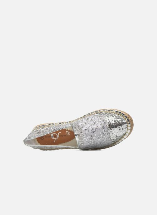 Espadrilles Divine Factory Steni Silver view from the left