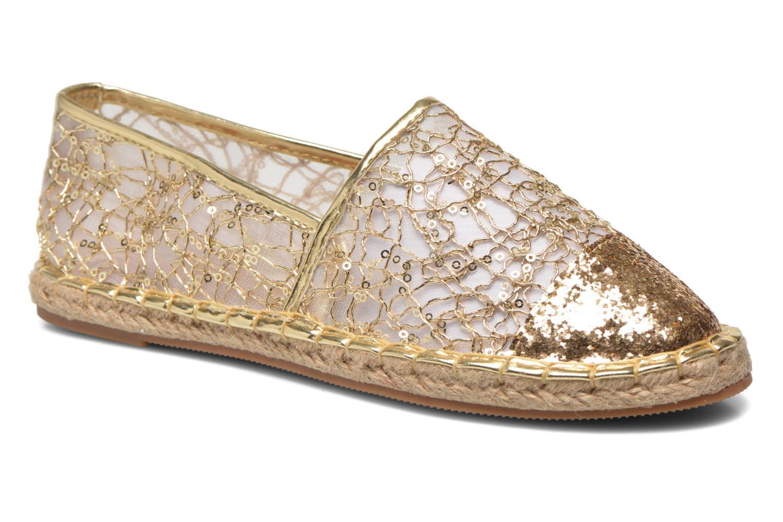 Alpargatas Divine Factory Steni Oro y bronce vista de detalle / par