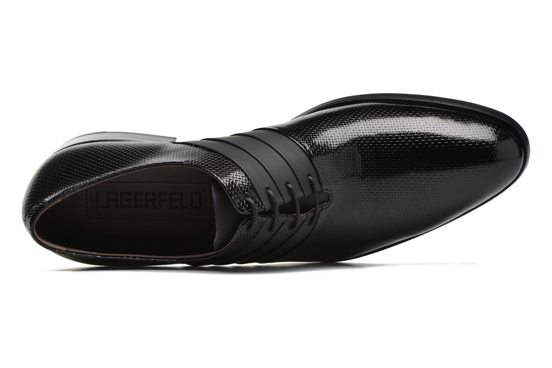 Chaussures à lacets KARL LAGERFELD Bernardo Noir vue gauche