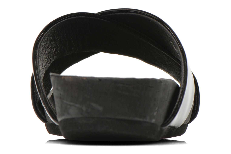 Zuecos Buffalo Gabriella Negro vista lateral derecha