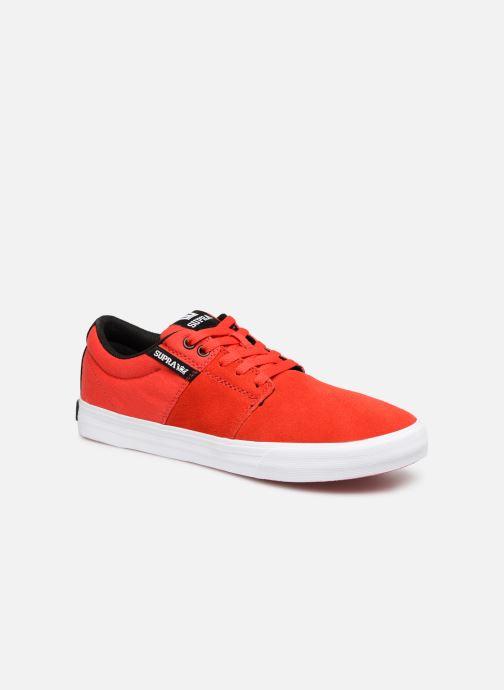 Chaussures de sport Supra Stacks Vulc II Rouge vue détail/paire