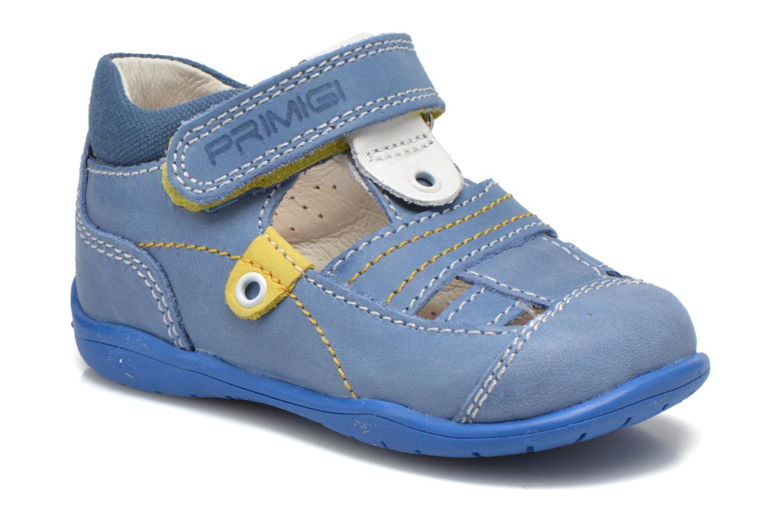Chaussures à scratch Primigi Ray Bleu vue détail/paire