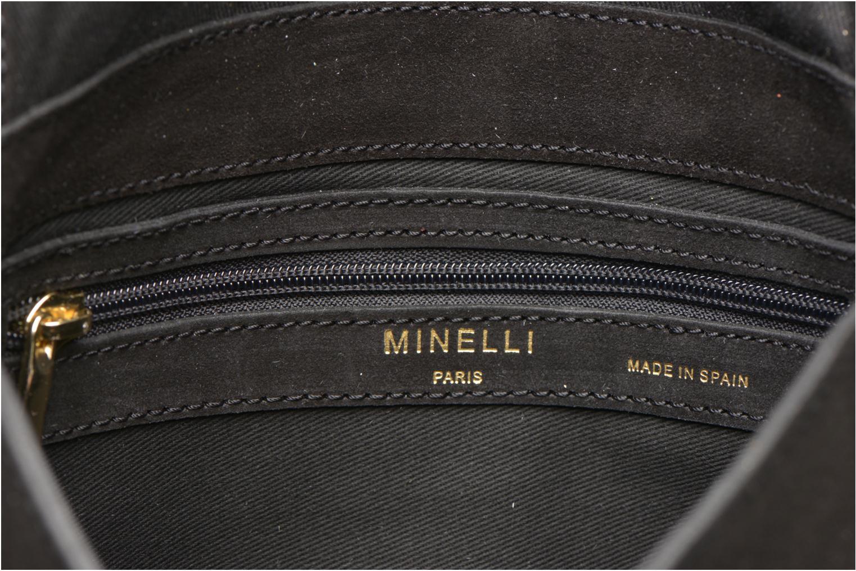 Sacs à main Minelli MC 909/VEL Porté travers Noir vue derrière