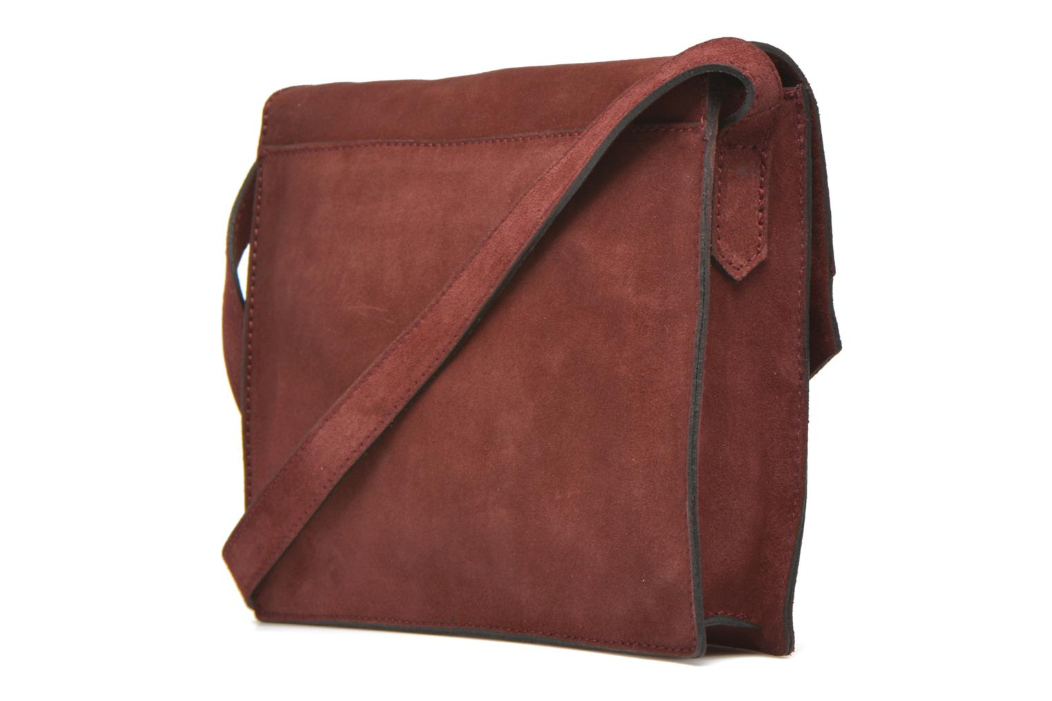 Handbags Minelli MC 909/VEL Porté travers Burgundy view from the right