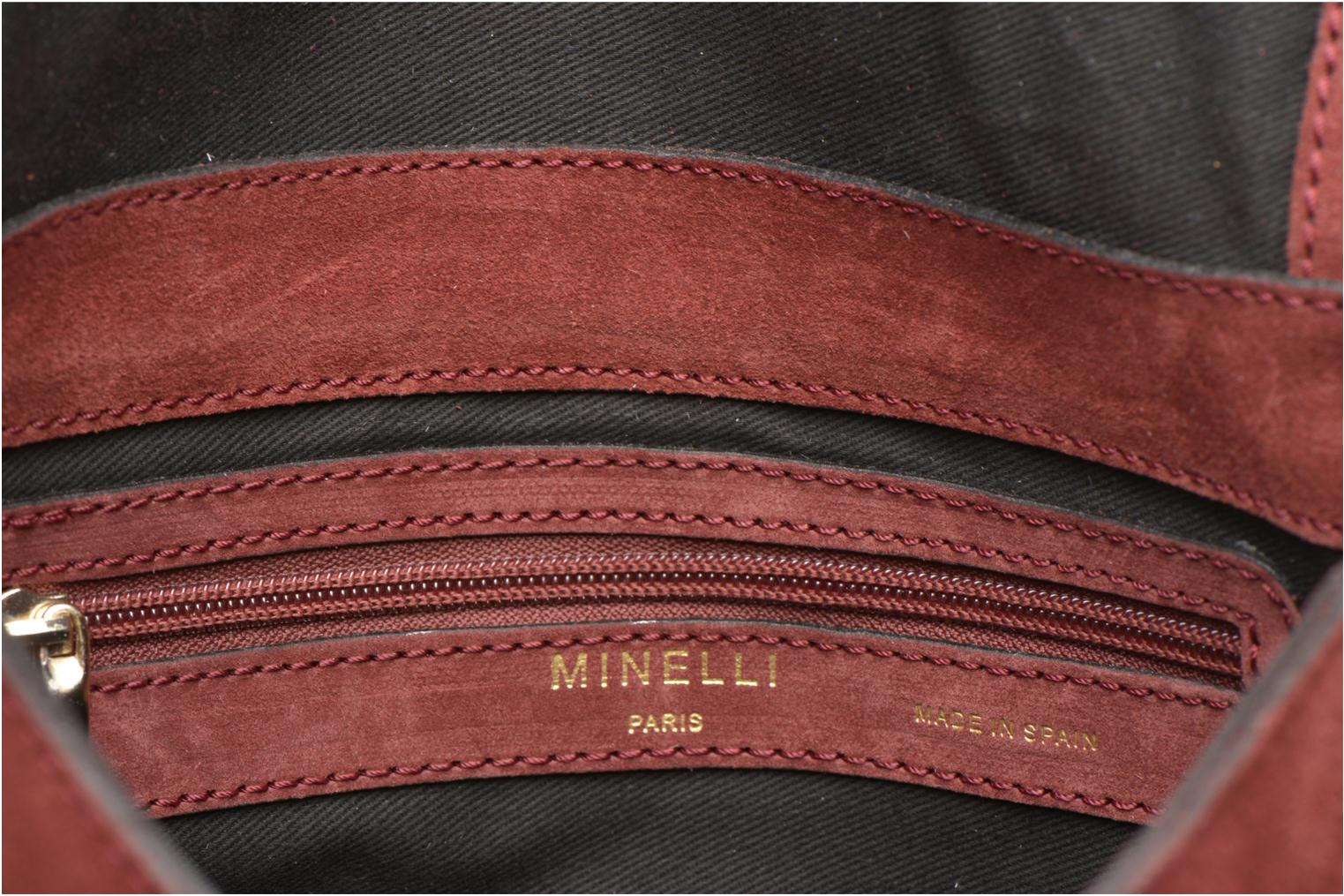 Handbags Minelli MC 909/VEL Porté travers Burgundy back view
