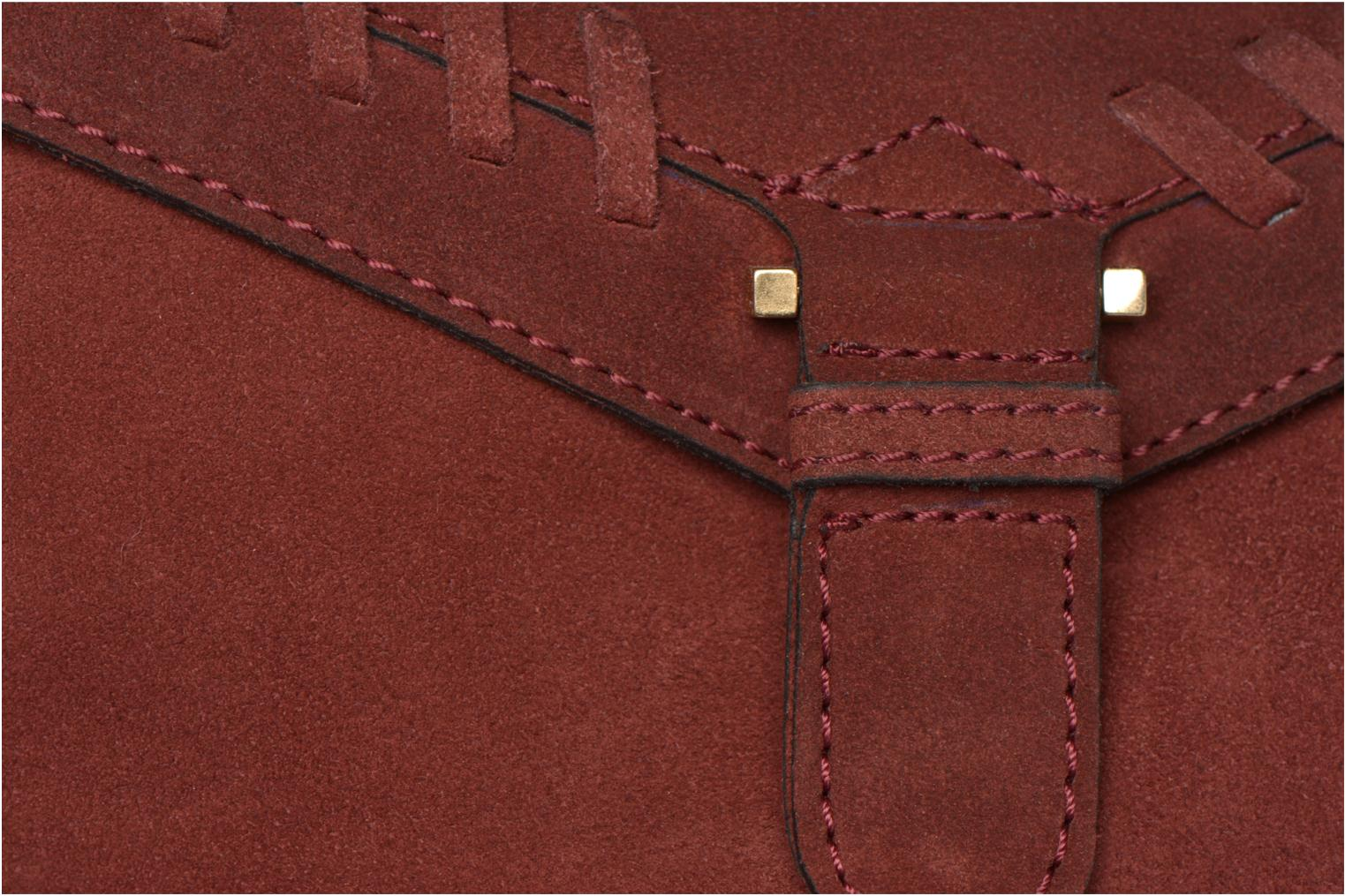 Handbags Minelli MC 909/VEL Porté travers Burgundy view from the left