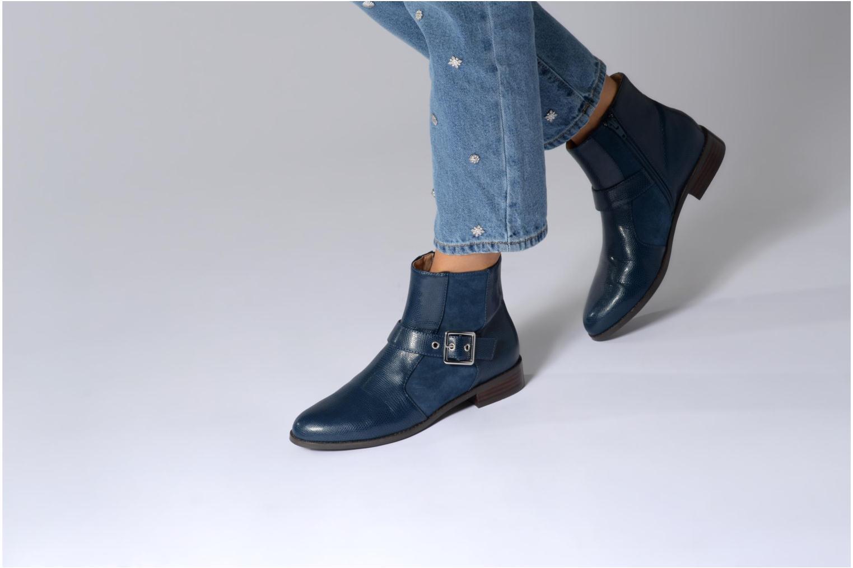 Bottines et boots Mellow Yellow Aldana Bleu vue bas / vue portée sac