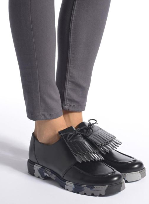 Chaussures à lacets Mellow Yellow Arsin Noir vue bas / vue portée sac