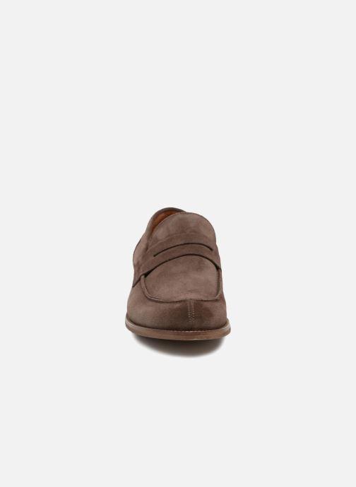 Slipper Marvin&Co Nantlle braun schuhe getragen