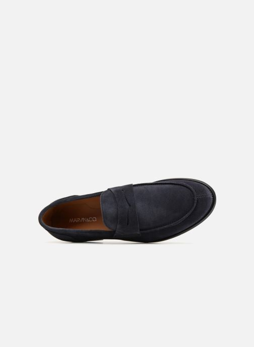 Mocasines Marvin&Co Nantlle Azul vista lateral izquierda