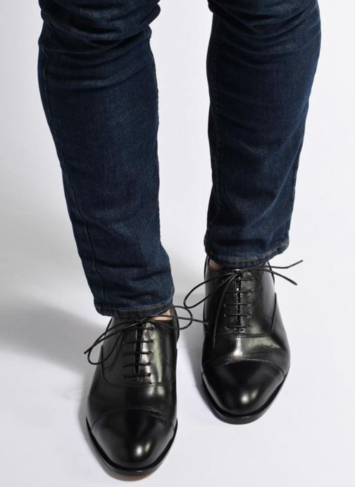 Lace-up shoes Marvin&co Nympsfield Black view from underneath / model view