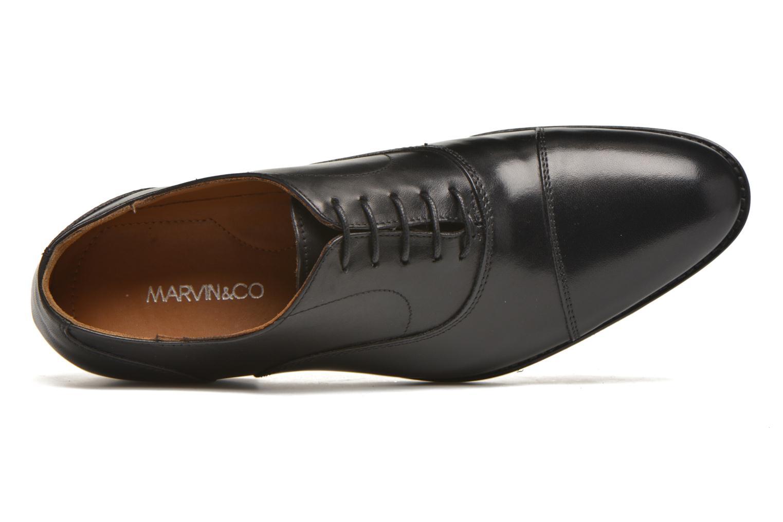 Zapatos con cordones Marvin&Co Nympsfield Negro vista lateral izquierda