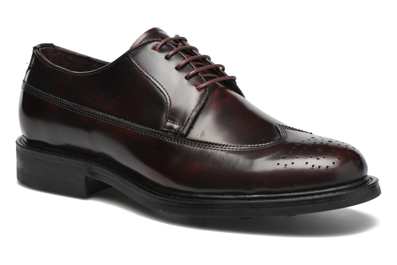 Zapatos con cordones Mr SARENZA Notheam Vino vista lateral derecha