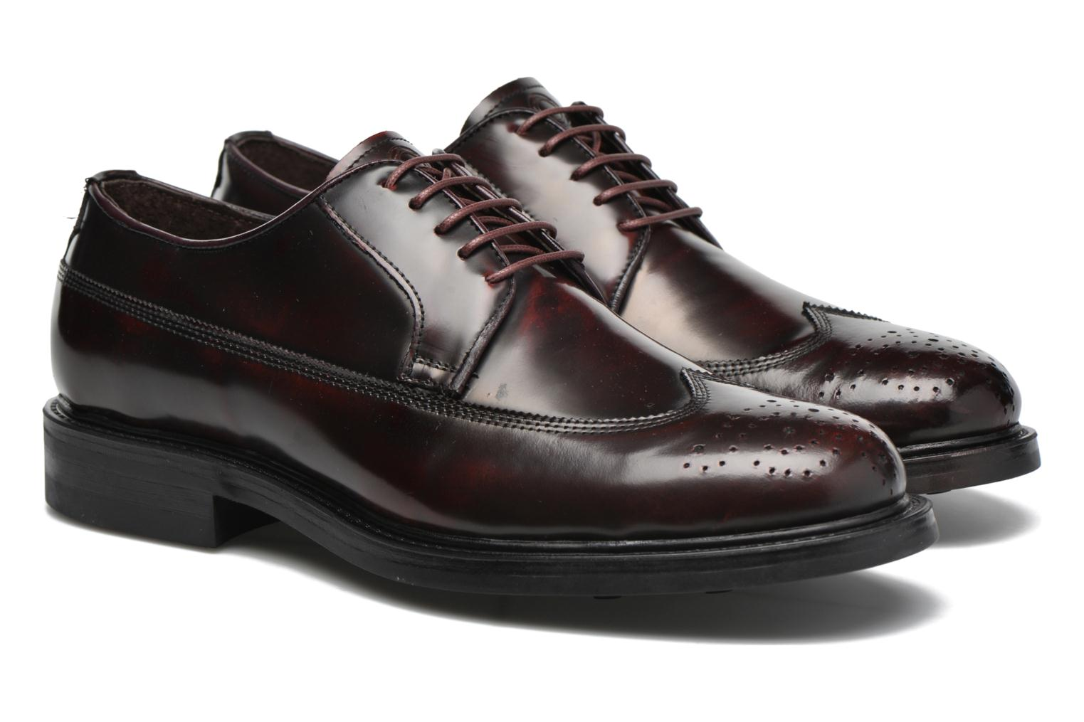 Lace-up shoes Mr SARENZA Notheam Burgundy back view
