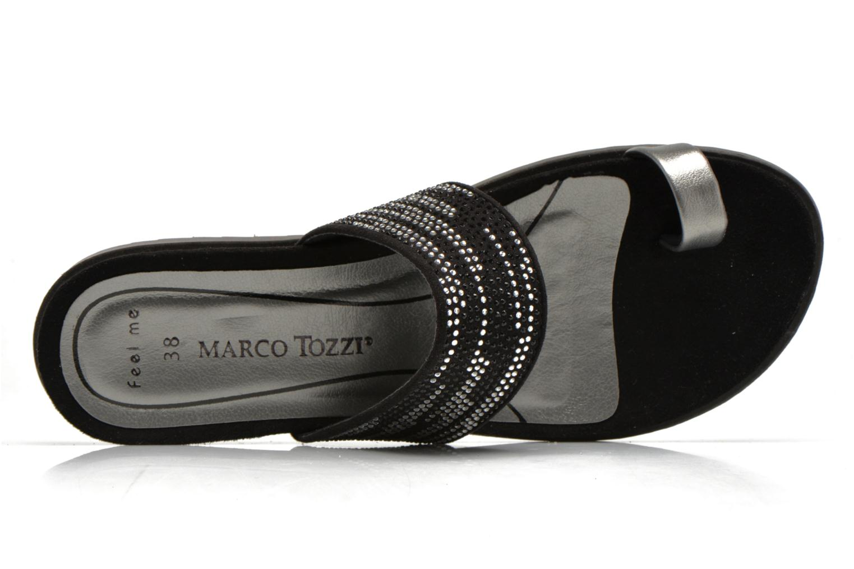 Zuecos Marco Tozzi Katia Negro vista lateral izquierda
