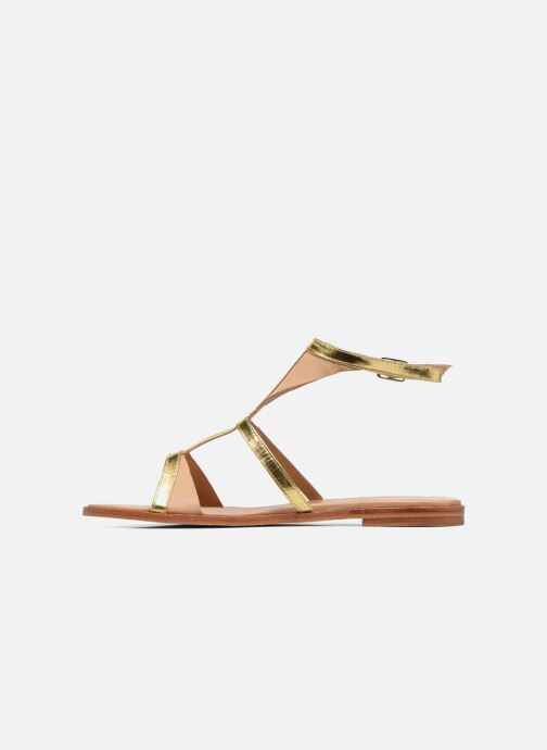 Sandals Melvin & Hamilton Celia 18 Bronze and Gold front view