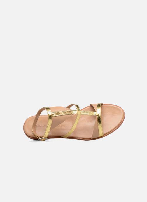 Sandales et nu-pieds Melvin & Hamilton Celia 18 Or et bronze vue gauche