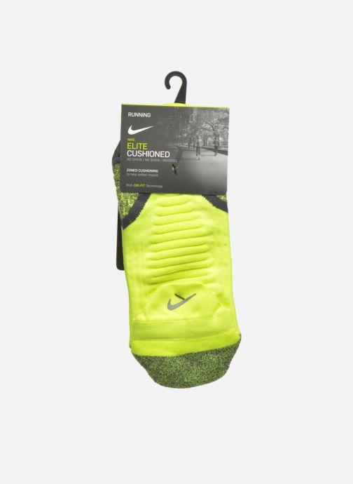 Sokken en panty's Nike Nike Elite Cushioned No-Show Tab Running Sock Geel achterkant