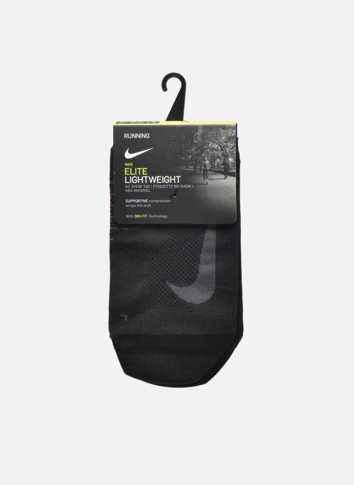 Chaussettes et collants Nike Nike Elite Lightweight No-Show Tab Running Sock Noir vue derrière