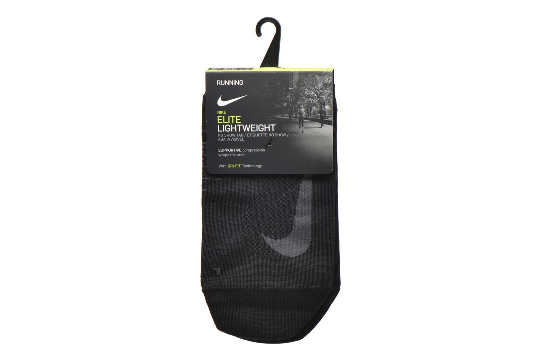 Medias y Calcetines Nike Nike Elite Lightweight No-Show Tab Running Sock Negro vistra trasera