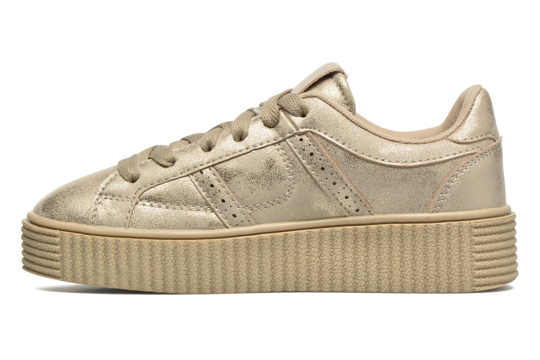 Deportivas I Love Shoes THAMI Oro y bronce vista de frente